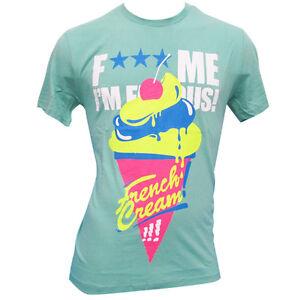 David Guetta F*** Me I'm Famous Ibiza Mens T-shirt French Ice Cream Mint GREEN