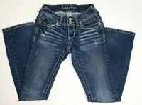 VANITY WOMENS GIRLS BLUE JEANS Distressed Denim  Size W 25 X L 31 pants
