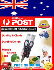MIRACLE KITCHEN SCISSORS STAINLESS STEEL CHICKEN FISH SERRATED MULTI USE