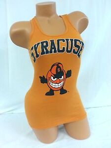 NWT Women's XS Syracuse Orangemen Collegiate Orange Ribbed Tank Top Shirt OSFA