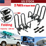 2Pairs Kayak Roof Rack Canoe Boat Surf Snowboard Car Top Mounted J Bar Folding