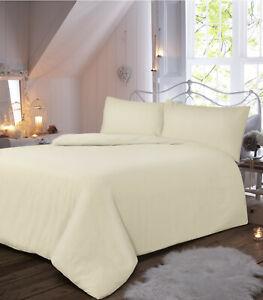 100% Brushed Cotton Flannelette Duvet Quilt Cover Set Pillowcase Thermal Bedding
