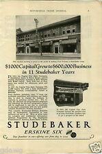 1927 PAPER AD Studebaker Dealership Store Sign Capital City Auto Walker Jack