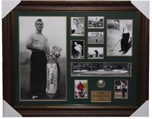 Arnold Palmer Signed Golf Ball with Poster and Frame
