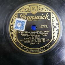 78rpm HARRY RICHMAN & EARL BURTNETT singing a vagabond song / with you