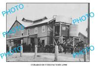 OLD LARGE PHOTO COBARGO BUTTER FACTORY c1900 NSW