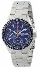 100% Authentic! SEIKO Pilot Chronograph Quartz Men's Watch SND255PC Blue Japan