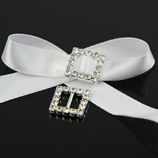 10 Pc Stunning Square Rhinestone Buckle Slider Ribbon Slide Diamante Buckle 12mm