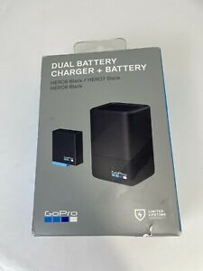 Genuine Official GoPro Dual Battery Charger w/ One Battery for HERO 8/7/6 Black