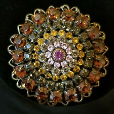 MINT Liz Palacios Brooch -Swarovski Crystals- Glittering Beauty in Autumn Colors