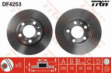 1X BRAKE DISC TRW AUTOMOTIVE DF4253