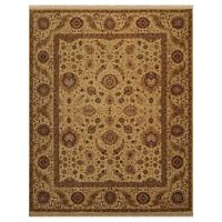 """8'1"""" x 10'1"""" Hand Knotted 100% Wool 200 KPSI Agra Oriental Area Rug Dusty Gold"""