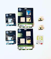 HP 363 Ink Cartridges Light Cyan Yellow Cyan 7 Ink Bundle Sealed In Date