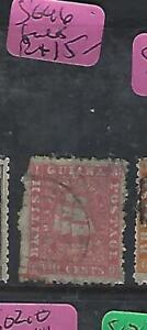 BRITISH GUIANA  (PP0210B) 8C  BOAT  SG 46  FAULT UL CORNER FU