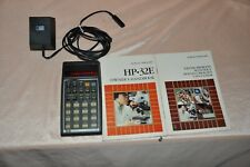 Hewlett-Packard Packard HP 32E Calculator with manuals and charger  NON WORKING