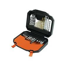 BLACK+DECKER 30 Piece Titanium Drilling and Screwdriver Bit Accessory Set NEW