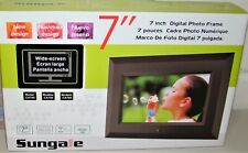 *NEW* SUNGALE 7 INCH DIGITAL PHOTO FRAME ~ MODEL CA705 ~ BLACK