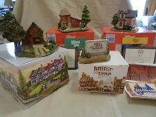 Lilliput Lane Set of 4 American Landmark with original boxes and most deeds