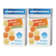 Weight Watchers CITRUS Drops Lemon & Orange Soft Jelly Candies - 8 Boxes