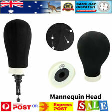 Black Styrofoam Unisex Hat Holder Foam Mannequin Head Stand Wig Hair Display