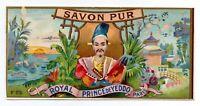 ANUNCIO DE PUBLICIDAD DE JABÓN SAVON PUR - ROYAL PRINCE YEDDO - PARIS   160x79mm