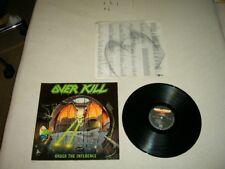 OVERKILL --- rare original 1988 UNDER THE INFLUENCE LP!!!   power thrash metal