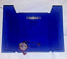 Krieger Watch Presentation Case Suisse Chronometer Swiss Box Blue Gold Embossed