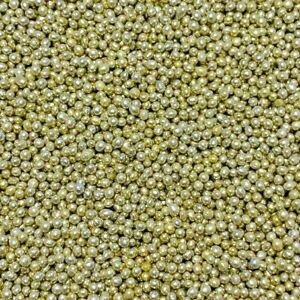 HIGH SHINE GOLD EDIBLE PEARLS SPRINKLES 100s & 1000s SUGAR CAKE DECORATIONS 1mm