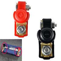 2x Auto Batterie Terminal Einstellbare Clamp Clip Stecker Positiv+Negativ DE