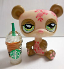 Littlest Pet Shop LPS #904 Postcard Panda Starbucks Year 2007