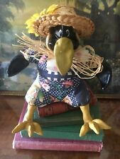 Comical Crow Magpie Bird Toy Ornament Country Farm Kitchen Decor