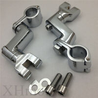 Replacement Chrome Longhorn FootPeg Mounts Magnum Clamp For Harly