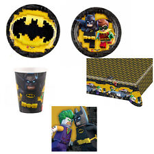Kit Party Batman Lego Costruzioni Compleanno Festa Tavola Piatti Bicchieri Eroi