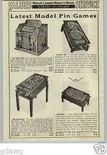 1933 PAPER AD Daval Gum Ball Machine Vending Machine The New Deal Poker Slot +++