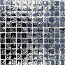 Glasmosaik mix Lüster schwarz Fliesenspiegel Küche Wand Art:88-8LU89 | 10 Matten