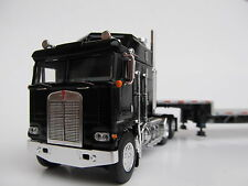 DCP 1/64 SCALE KENWORTH K-100 BLACK WITH SILVER STEP DECK / BLACK FRAME