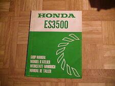 Original Werkstatthandbuch Honda Stromgeneratoren ES 3500
