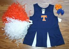 CHEERLEADER COSTUME HALLOWEEN OUTFIT TENNESSEE 2T CHEER SET POMS VOLUNTEERS