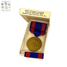 ARMY 1899 PHILIPPINE CAMPAIGN MEDAL SLOT BROOCH RIBBON BAR AUG. C. FRANK BOX