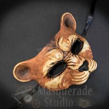 Leopard Haunted Animal Spirit Wall Decoration Halloween Masquerade Mask [Brown]