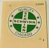 Schwinn Bike Original Decal, Quality Chicago, 1-1/2 Diameter From Schwinn Dealer