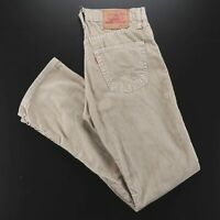 Vintage LEVI'S 551 Beige Corduroy Regular Straight Pants Mens W30 L31