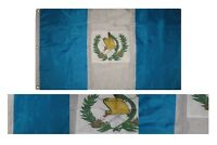 3x5 Embroidered Sewn Guatemala Country 300D Nylon Flag 3'x5' 3 Clips