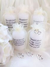 Wedding Favour Candle Personalised, Many Colours, Charms, Cater For Any Event