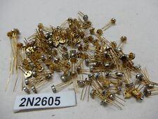 2N2605 Transistors Nos Gold Pins Qty 10 Only! Bgx