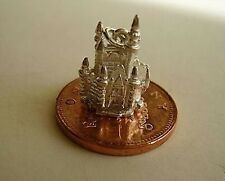 STERLING SILVER FAIRYTALE CASTLE CHARM (OPENS) MOUSE CHARMS