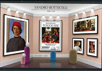 Togo 2015 MNH Sandro Botticelli 1v S/S Art Paintings Cestello Annunciation