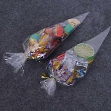 Clear Candy Cone Bags Cellophane Party Sweet Display Cello Gift Bag Birthday