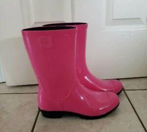 Ugg Pink Wellie Rain Boots 7