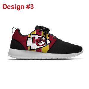 KANSAS CITY CHIEFS Men's Women's Lightweight Shoes Sneakers Football Team NEW